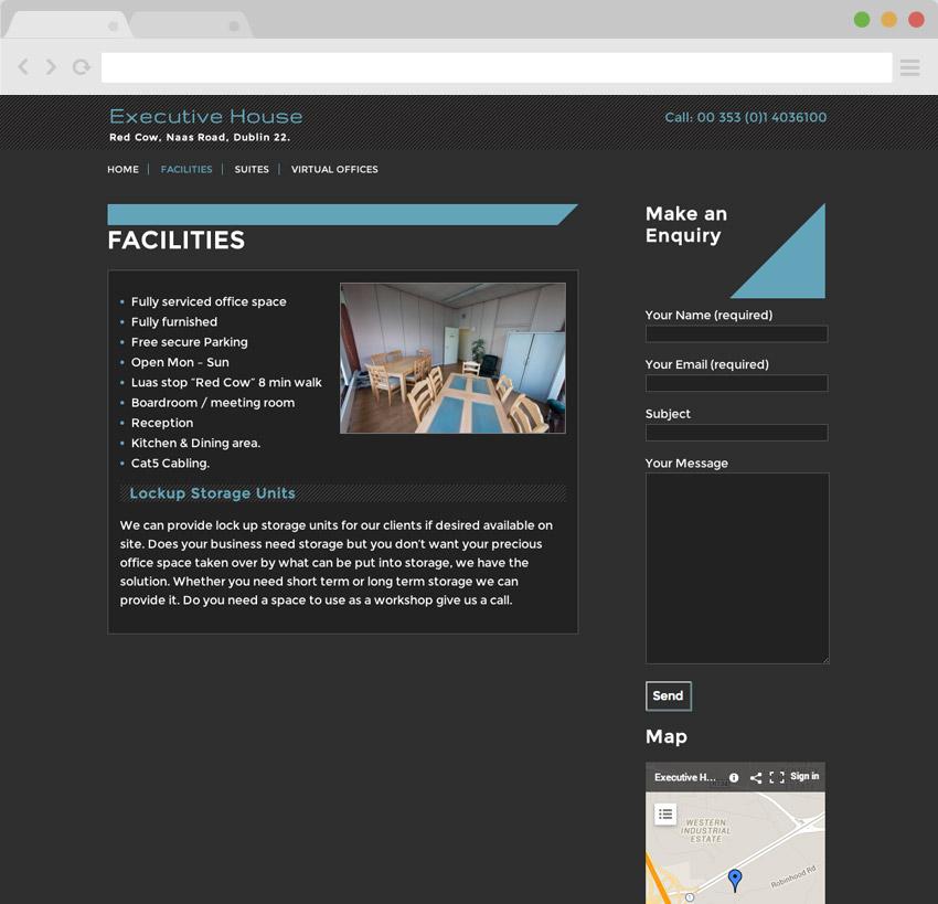 visible web design portfolio executive house