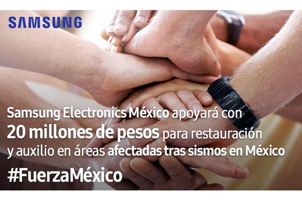 SAMSUNG APOYA A AFECTADOS POR LOS SISMOS EN MÉXICO1