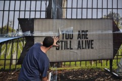 Steve Lambert You Are Still Alive Billboard photo