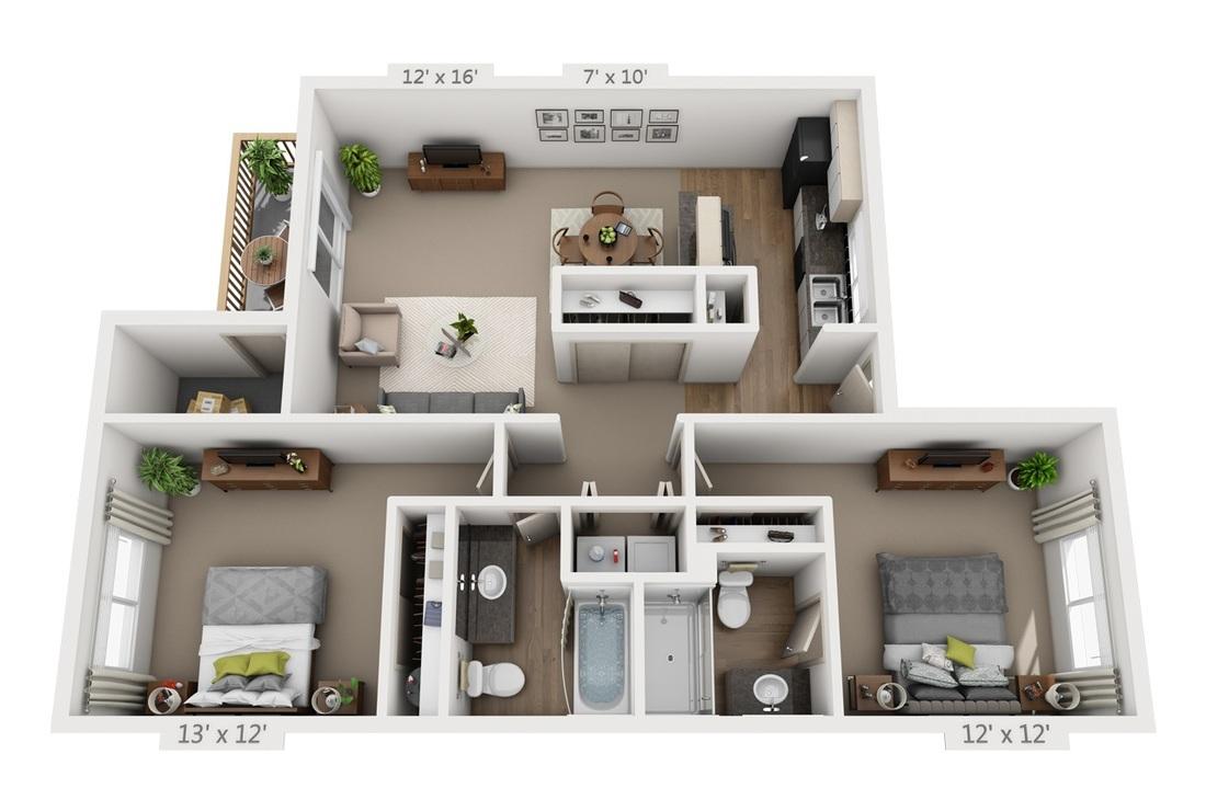 Distinctive Plans Pricing Vista View Apartments 84 7 X 12 Bandsaw houzz 01 7 X 12
