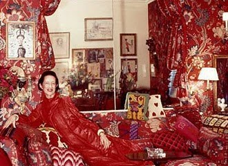 Diana Vreeland in her red apartment