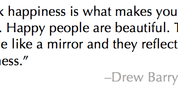 Drew Barrymore Quote Happiness is Beauty