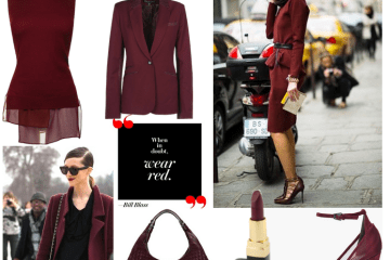 Oxblood Red Trend Fall 2012