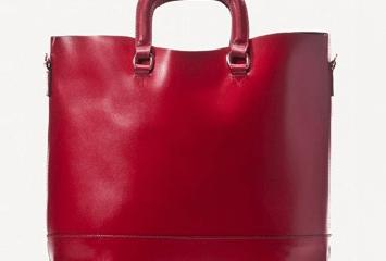 Massimo Dutti Red Shopper