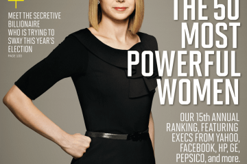 Marissa Mayer on the cover of Fortune Magazine