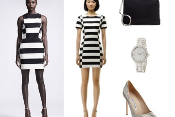 Black and White Striped Trend - Dress