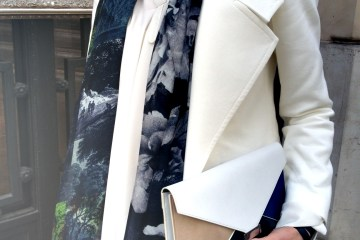 Zara Jacket, Celine Blouse, Dries van Noten Scarf