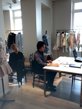 Jesse at the Balmain showroom