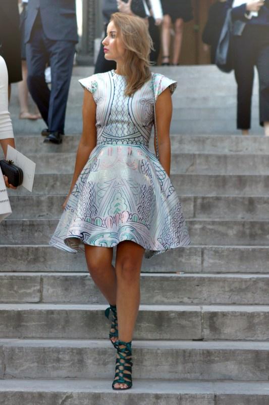 Haute Couture Street Style   Mary Katrantzou Babelona Jacquard Dress