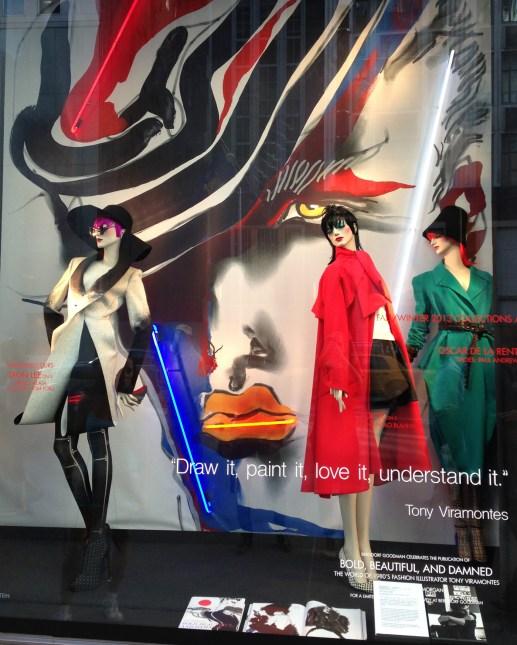 Dion Lee window at Bergdorf Goodman