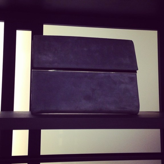 Love this elegant Margiela clutch at the West Village boutique
