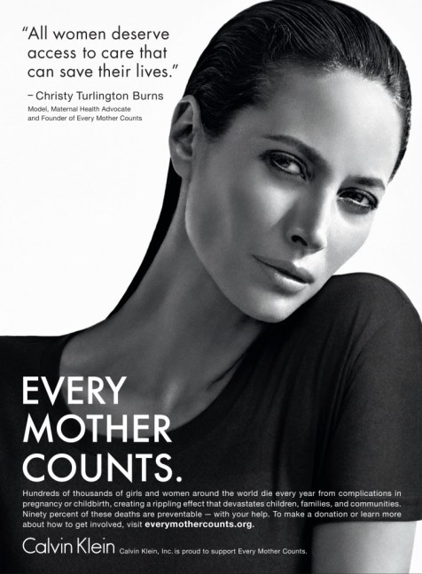 Glossy Public Service Announcement for Every Mother Counts