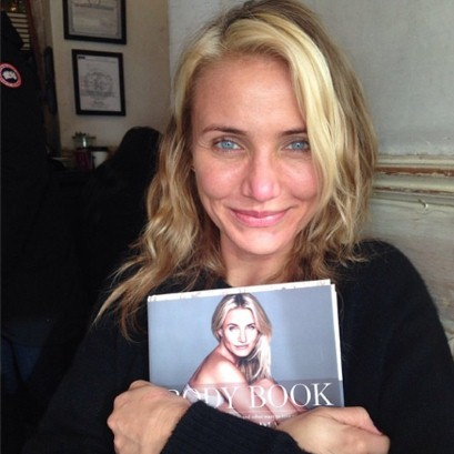 "Cameron Diaz with her book, ""The Body Book"""
