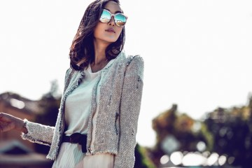 Blogger Chriselle Lim wearing Gentle Monster
