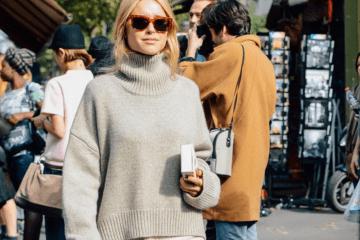 chunky sweater street style