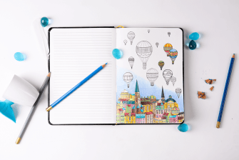 Double Happiness: A Notebook Combined with Adult Coloring Book for Stress-Relief