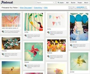 """My Pinterest home page after I added many things to """"Laelia's first birthday"""" Board."""