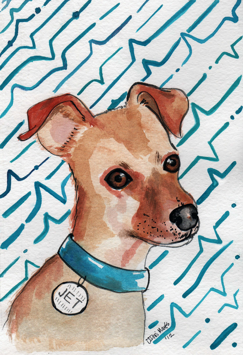 Watercolor Pet Portraits