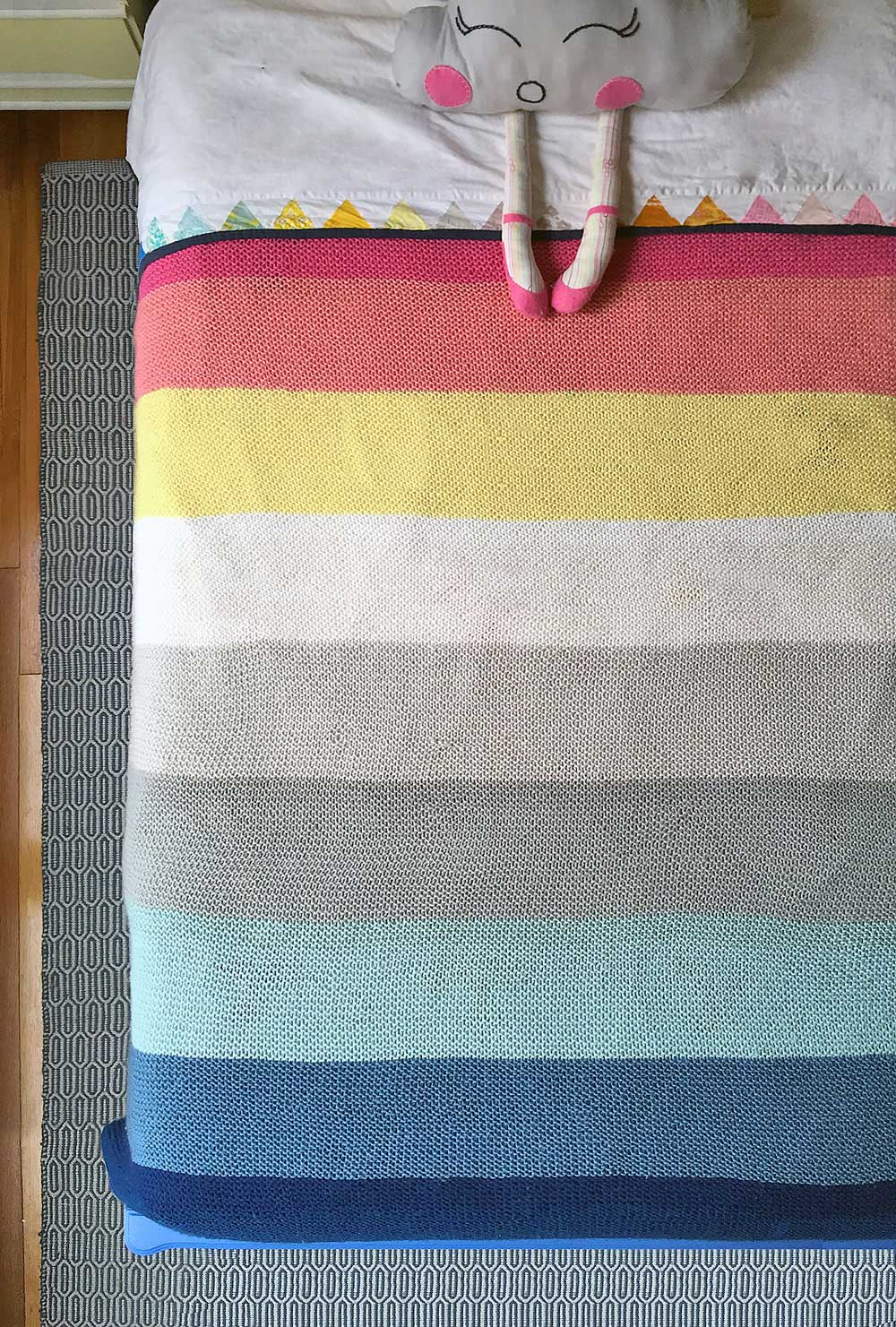 Striped-Knit-Blanket