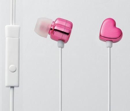Elecom-pink-heart-shaped-earphones-1