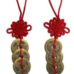 Chinese Red Enless Knot Feng Shui Coins