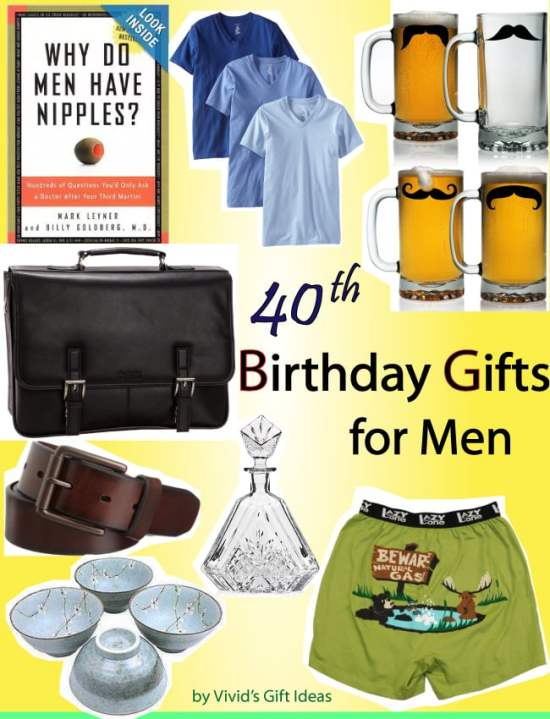 40th Birthday Ideas Gift For Male Friend