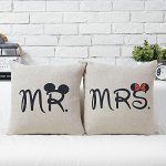 Mr and Mrs Mouse Pillow Set