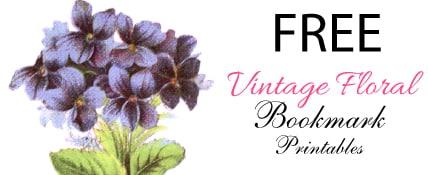 FREE vintage floral bookmark printables