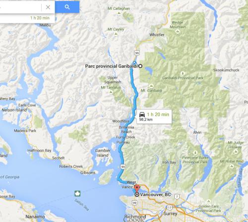 Accès rando Black Tusk depuis Vancouver, Canada