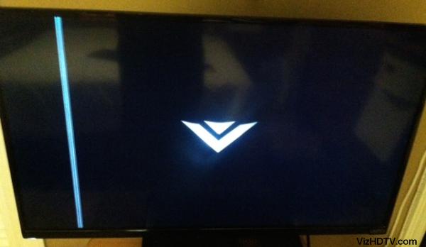 Line defect on a Vizio TV.