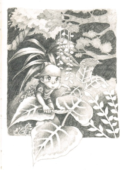 "2010. ""Through the Jungle."" Book illustration."