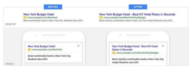 serp layout change Google Increased Width of Organic Search Results