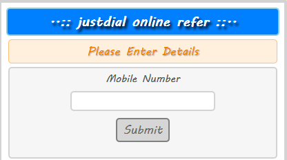 Make Online Referrals JustDial Loot : Refer and Earn Unlimited Real Money In Bank (Similar to Hike Loot)