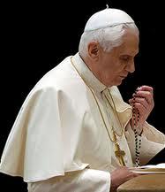 Pope praying Rosary