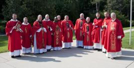 Fr. McCurry, fourth from right