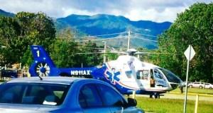 Helicóptero de Aeromed.