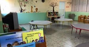 Salón de pre-kinder de la escuela José Celso Barbosa.
