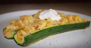 Canoas de zucchini