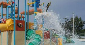 El parque acuático contará con varias piscinas, chorreras, y gazebos para actividades.