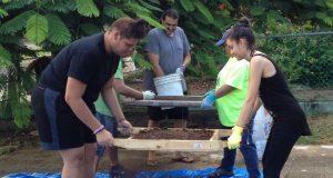 los jóvenes también fueron expuestos a labor comunitaria al participar de limpiezas de varias áreas de la Reserva Nacional de Investigación Estuarina de Bahía de Jobos