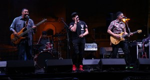 La banda Club Soda cantó el sábado en las fiestas patronales de Ponce. (Voces del Sur)