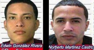 Edwin González Rivera, alias Ñoño, y Norberto Martínez Castro, conocido por Bertito, figuraban entre los prófugos más buscados de la región policiaca de Ponce. (Suministrada)
