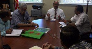 El secretario de Agricultura, Carlos Flores Otero, se reunió con integrantes de la Junta de Producción de Carnes de Res.