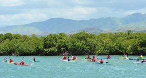 Competencia de canotaje en el Primer Circuito Nacional efectuado en Guayama. (Facebook / Comité Olímpico de Puerto Rico)