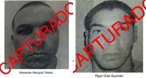 Alexander Mangual Toledo y Ryan Díaz Guzmán. (Twitter / Departamento de Corrección y Rehabilitación)