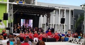 La plaza pública Manuel Jiménez Mesa sirve de escenario para diversos eventos culturales al año en Guánica.