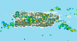 El radar detectó fuertes aguaceros en varios municipios de la Isla.