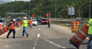 El puente de la PR-52 sobre el río Inabón, en dirección de Juana Díaz a Ponce, estuvo cerrado dos meses y medio por reparaciones. (Facebook / Ramoncito Hernández Torres)