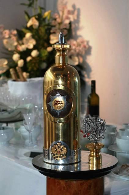 The bottle of Russo-Baltique Vodka