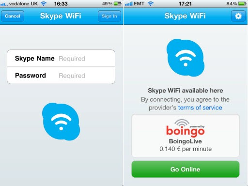 SkypeWiFi.Screenshots